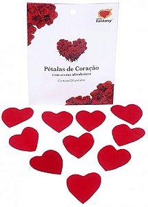 Pétalas Decorativas Perfumadas Formato Coração 120 Unidades - Catelândia