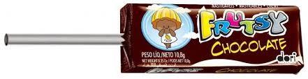 Pirulito Mastigável Frutsy Chocolate 50 Unidades - Dori