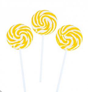 Pirulito Psicodélico Amarelo e Branco Diâmetro: 5 cm Altura: 20 cm 15 Unidades - Catelândia