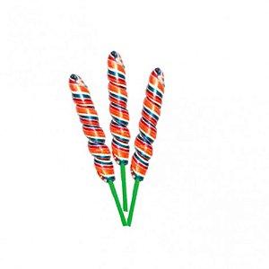 Pirulito Psicodélico Espiral 15 cm Altura - Embalagem Econômica 50 Un - Catelândia