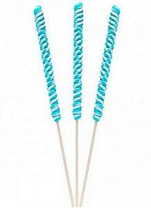 Pirulito Psicodélico Espiral Grande Branco e Azul 15 Un - Catelândia
