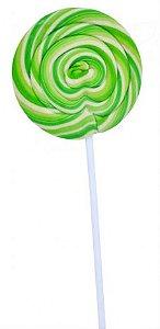 Pirulito Psicodélico Verde e Branco Diâmetro: 8 cm Altura: 20 cm 15 Unidades - Catelândia