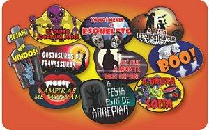Plaquinhas De Halloween - Para Tirar Selfies - 10 Unidades - Catelândia