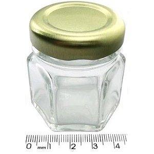 Potinho de Vidro Sextavado para Lembrancinhas 10 Un - Catelândia