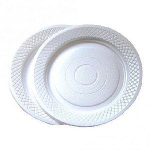 Pratos Descartáveis para Bolo Branco 15cm 10 Unidades - Catelândia