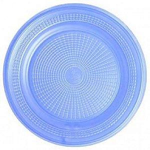 Pratos Descartáveis Para Bolo Colorido Azul Claro 15cm 10 Un - Catelândia