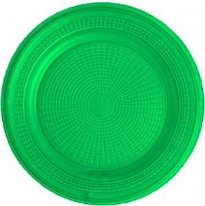 Pratos Descartáveis Para Sobremesa (Bolo) Verde 15cm 10 Un - Catelândia