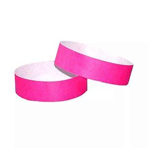 Pulseira de Identificação para Festas ou Baladas Rosa Neon 35 Un - Catelândia