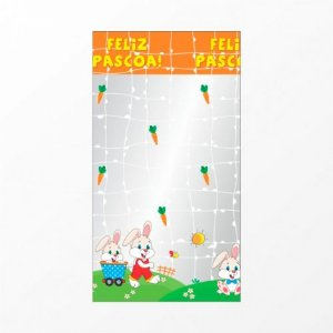 Saco Infantil para Mini Ovinhos de Páscoa 12 x 22 cm 50 Un - Catelândia