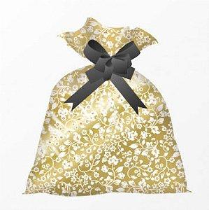 Saco P/ Colocar Chocolates P/ Presente 25 x 35 cm 25 Un - Coleção Donna Flor