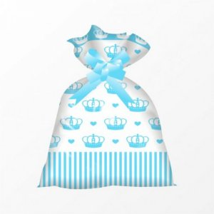 Saco para Colocar Ovinhos e Chocolates P/ Páscoa 12 x 22 cm 50 Un - Coleção Princess