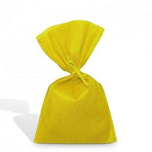 Sacolinha para Aniversário Amarela com Fita de Cetim 08 Un - Catelândia