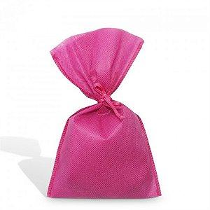 Sacolinha Surpresa Pink com Fita de Cetim para Festa Infantil 08 Un - Catelândia