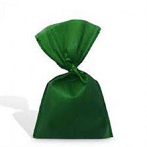 Sacolinha Surpresa Verde Bandeira em TNT com Fita de Cetim 08 Un - Catelândia