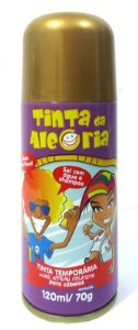 Tinta Temporária em Spray para Pintar o Cabelo - Dourada - Catelândia