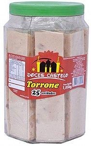 Torrone Pote com 20 Doces Embalados Individualmente - Doces Castelo