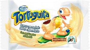 Tortuguita Chocolate Branco com Recheio Chocolate ao Leite 24 Unidades - Catelândia