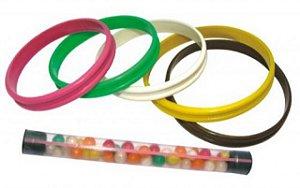 Tubinhos com Confeitos Coloridos e Mini Brinquedo Pulseira 25 Un - Catelândia