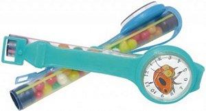 Tubinhos com Confeitos Coloridos e Mini Brinquedo Relógio 25 Un - Catelândia