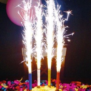 Vela de Aniversário Tipo Vulcão com 4 Un - Catelândia