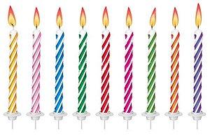 Velas de Aniversário Espiral 24 Velas Sortidas, 12 Pezinhos e 1 Placa Happy Birthday - Catelândia