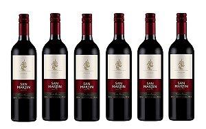 Kit com 06 Unidades Vinho Tinto Seco San Martin 750ml
