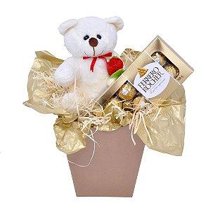 Presente Namorados Urso Pelúcia Chocolate Ferrero Rocher