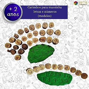Carimbo para massinha - Letras e números - Modelos