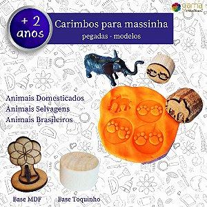 Carimbo Pegadas - Animais Domesticados, Selvagens e Brasileiros