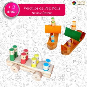 Veículos Peg Doll - Navio e Ônibus