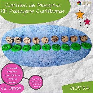 Carimbo para massinha - Paisagens Curitibanas - modelos