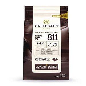 Chocolate gotas meio amargo 54,5%% Callebaut - 2,5kg - N 811