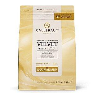 Chocolate gotas branco 33,1% Callebaut - 2,5kg - VELVET