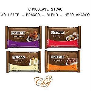 Chocolate barra Sicao - 2,1kg - ao leite/blend/branco/meio amargo