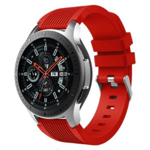Pulseira Texturizada Vermelho 22mm - Pace / GTR / Gear S3
