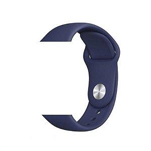Pulseira Lisa para Apple Watch Azul Escuro - 42 44mm