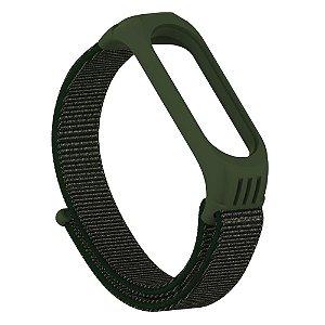 Pulseira Verde Militar de TPU + Nylon MB 3/4/5