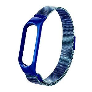 Metal Azul com Trava de Segurança - Mi Band 5 e 6