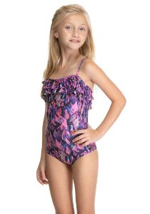 Maiô Body Du Sell Dry UV Infantil Babado Estampado