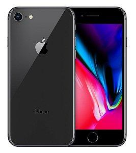 iPhone 8 Apple com iOS 11, Câmera de 12 MP, Resistente à Água, Wi-Fi, 4G LTE e NFC, 64GB, Cinza-Espacial, Tela HD de 4,7