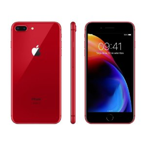 iPhone 8 Plus Apple RED Special Edition, iOS11, Câmera Dupla 12MP, 64GB, Vermelho, Tela HD de 5,5""