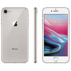 """iPhone 8 Apple com 256GB, Tela Retina HD de 4,7"""", iOS 11, Câmera de 12 MP, Resistente à Água, Wi-Fi, 4G LTE e NFC - Prateado"""
