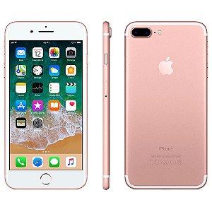 iPhone 7 Plus Apple iOS 11, Dupla Câmera Traseira, Resistente à Água, Wi-Fi, 4G LTE e NFC, 32GB, Ouro Rosa, Tela HD de 5,5
