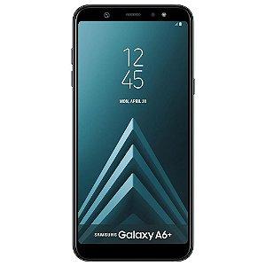 """Smartphone Samsung Galaxy A6+ Dual Chip, Câmera Traseira Dupla, Android 8.0, Processador Octa Core e 4GB RAM, 64GB, Preto, Tela Infinita de 6"""""""