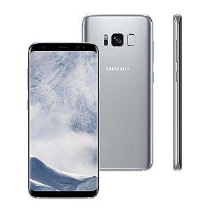 """Smartphone Samsung Galaxy S8 Dual Chip Prata com 64GB, Tela 5.8"""", Android 7.0, 4G, Câmera 12MP e Octa-Core"""