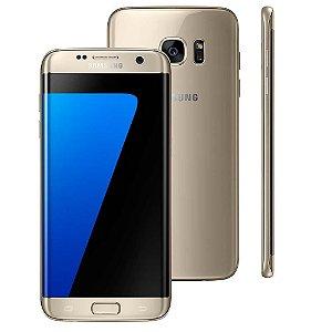 """Smartphone Samsung Galaxy S7 edge Dourado com 32GB, Tela 5.5"""", Android 6.0, 4G, Câmera 12MP e Processador Octa-Core"""