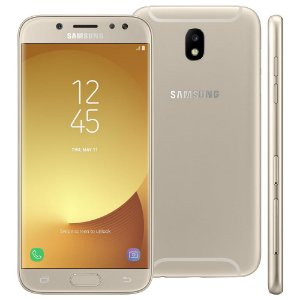 "Smartphone Samsung Galaxy J5 Pro Dourado 32GB, Tela 5.2"", Android 7.0, Câmeras de 13MP com Flash LED, Dual Chip, Processador Octa Core e 2GB de RAM"