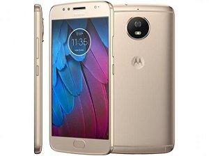 "Smartphone Motorola Moto G5S XT1790 32GB Leitor Digital Tela 5.2"" 16MP/5MP - Dourado"