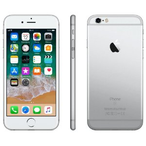 iPhone 6s Apple com 3D Touch, iOS 11, Sensor Touch ID, Câmera iSight 12MP, Wi-Fi, 4G, GPS, Bluetooth e NFC, 32GB, Prateado, Tela 4,7""