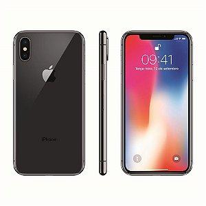 """iPhone X Apple com 64GB, Tela Retina HD de 5,8"""", iOS 11, Dupla Câmera Traseira, Resistente à Água e Reconhecimento Facial - Cinza-Espacial"""